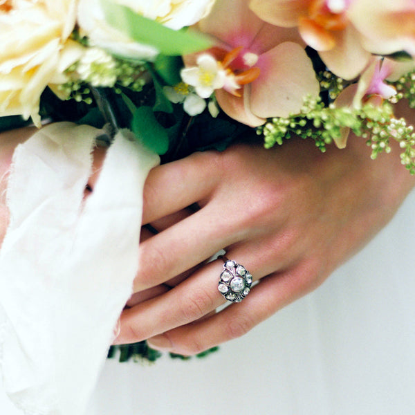 Impeccable Bombe Style Victorian Cluster Ring | Photo by Sarah Carpenter