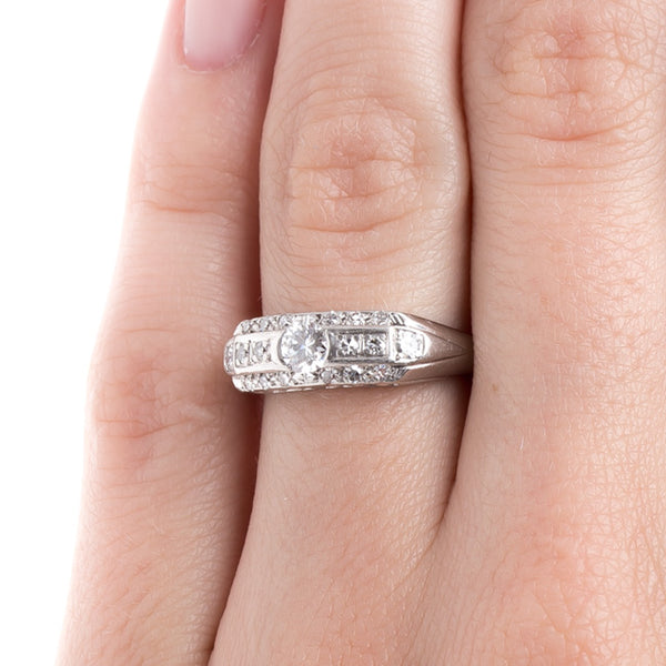 Sparkling Art Deco Wedding Band | Sassafras from Trumpet & Horn