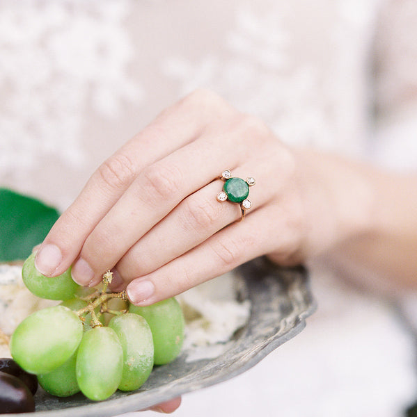 Whimsical vintage jade ring | Photo by Savan Photography