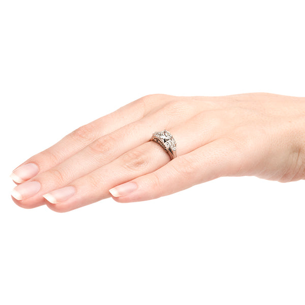 Scottsboro Vintage Classic Diamond Engagement Ring from Trumpet & Horn