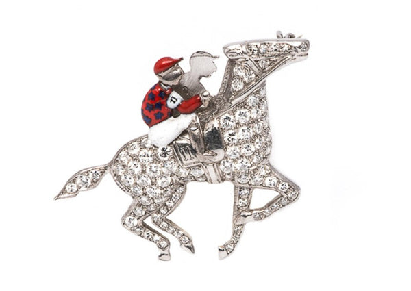 "Art Deco ""Seabiscuit"" Pin"