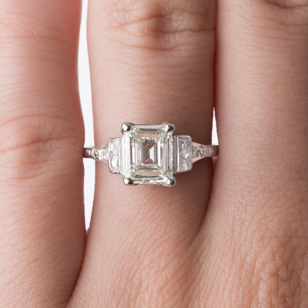 Feminine Emerald Cut Engagement Ring | Seabring from Trumpet & Horn