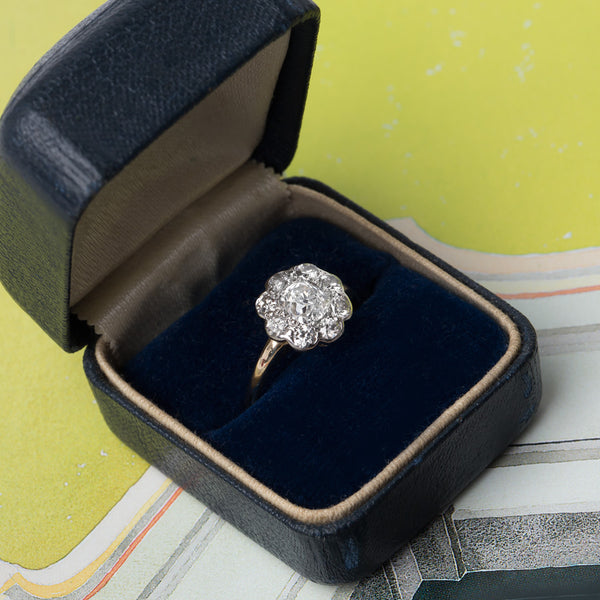 Classic Victorian Era Halo Engagement Ring | Seattle from Trumpet & Horn