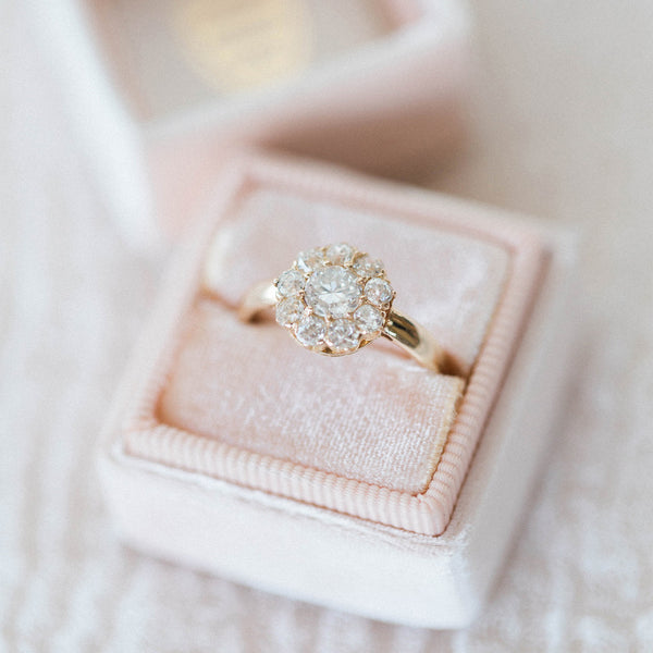 Glittering Victorian Diamond Cluster Ring | Photo by Arielle Peters