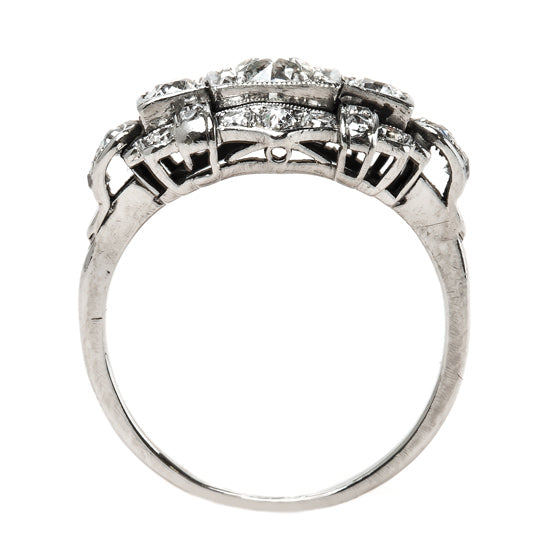 Vintage Art Deco Engagement Ring with Diamond Geometric Design | Sedgewick from Trumpet & Horn
