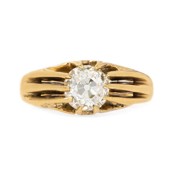 Selma vintage Old Mine Cut diamond engagement ring from Trumpet & Horn