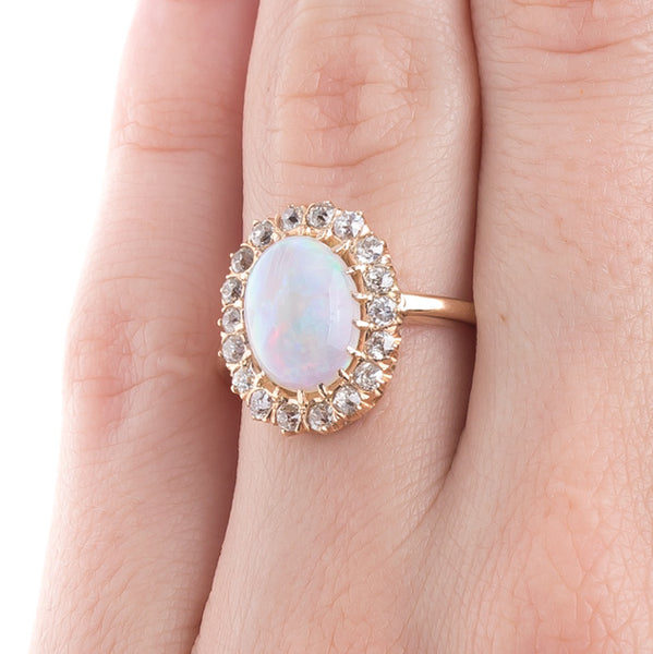 Loveliest Opal and Diamond Halo Ring | Shandwick from Trumpet & Horn