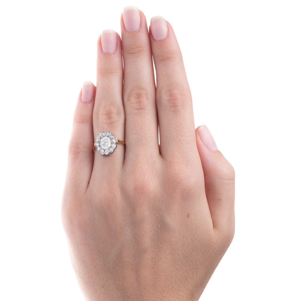 Gift Her An Exceptional Vintage Oval Diamond Halo Ring | Short Hills ...