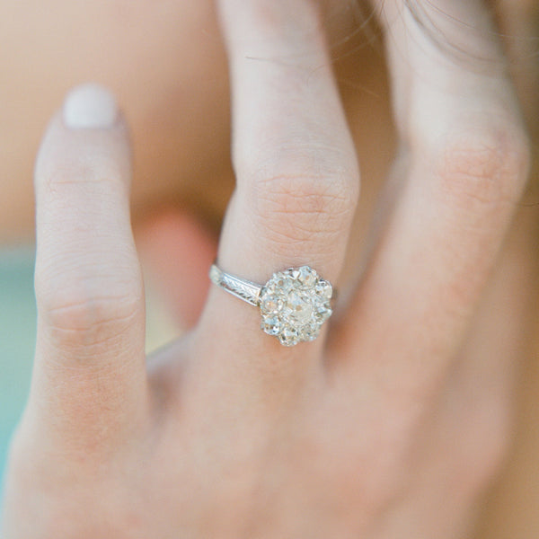 Antique Cluster Ring from Trumpet & Horn | Photo by Jenny McCann