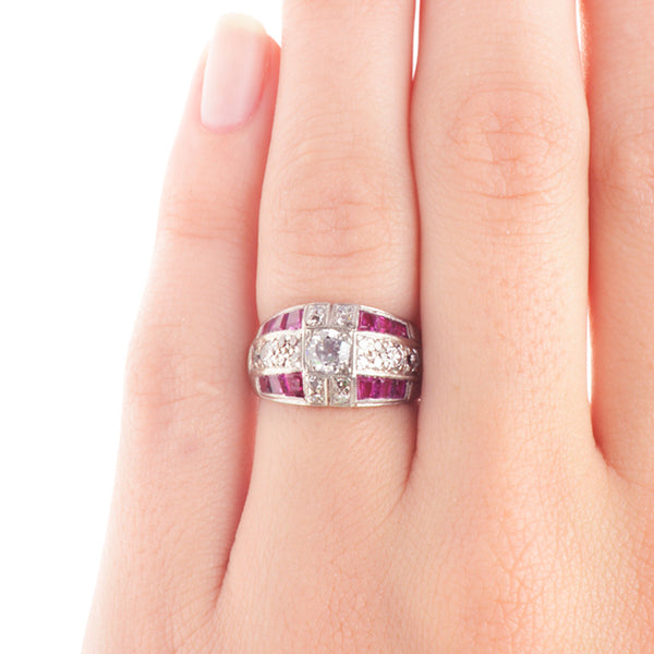 Vintage Ruby and Diamond Ring | Silvermine from Trumpet & Horn