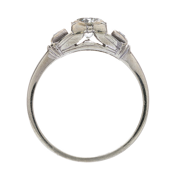 Adorable Late Art Deco Three Stone Ring | Silver Star from Trumpet & Horn