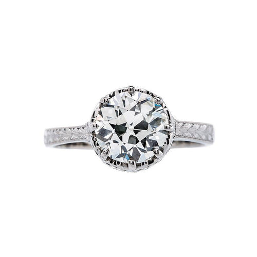 Incredibly Elegant Edwardian Inspired Solitaire | Sky Point from Trumpet & Horn