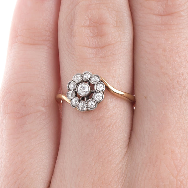 Adorable Old Mine Cut Diamond Art Nouveau Engagement Ring | SoHo from Trumpet & Horn