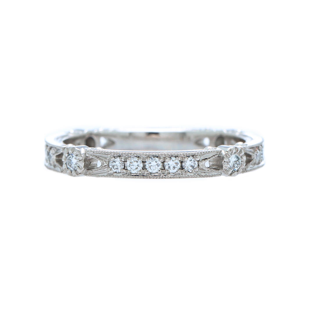 Stunning Handcrafted Platinum Wedding Band Etruscan Era Inspired | Sonoma from Trumpet & Horn