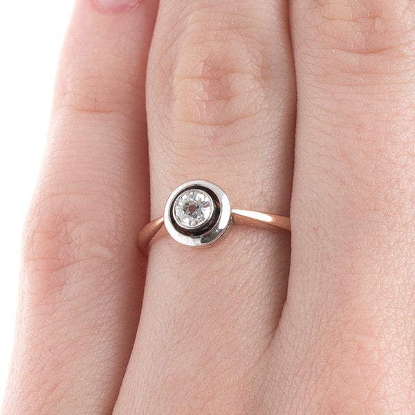 Art Nouveau Solitaire Ring | Sonora from Trumpet & Horn