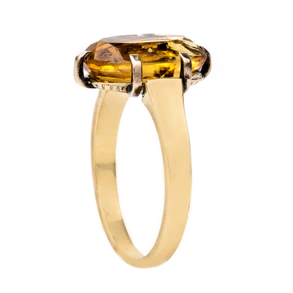 Charming Victorian Solitaire with Vibrant Citrine | Southwark from Trumpet & Horn