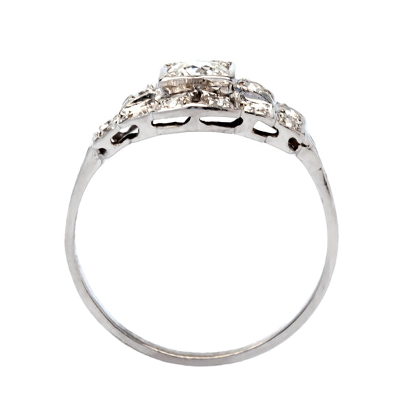 Springdale vintage Art Deco diamond engagement ring from Trumpet & Horn