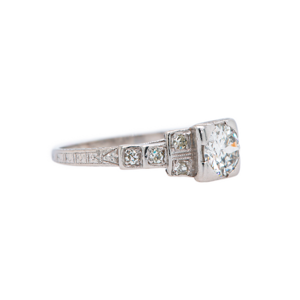 Classic Art Deco era diamond and platinum ring