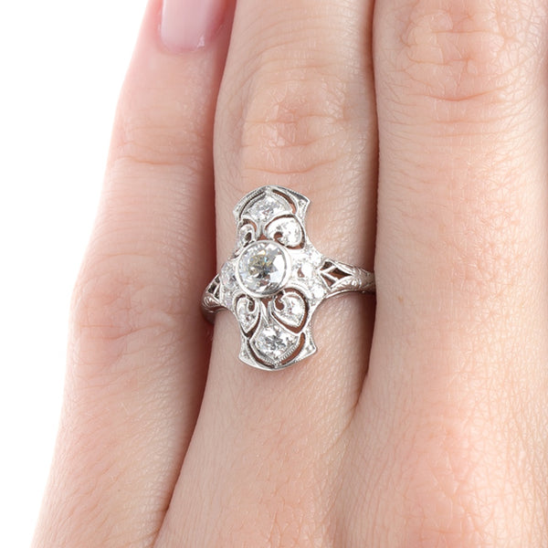 Impressive Edwardian Navette Engagement Ring | Stony Point from Trumpet & Horn