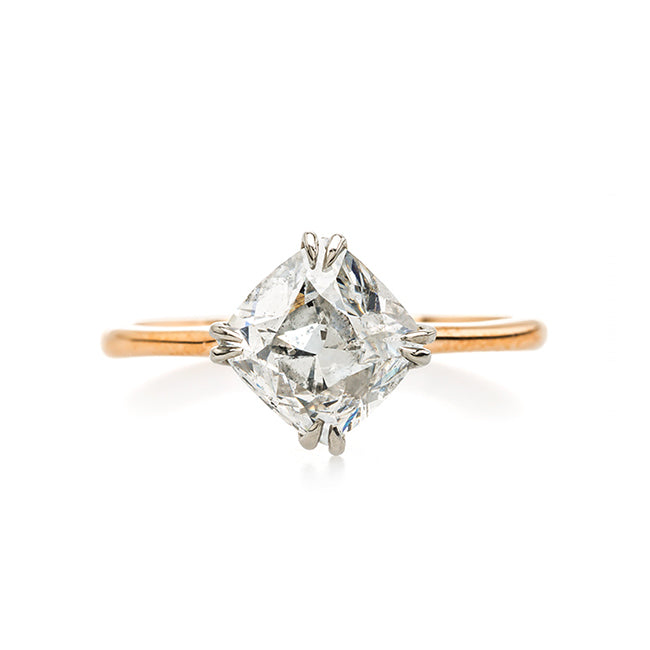 Antique Old Mine Cut Diamond in a Bias Setting | Summerland from Trumpet & Horn