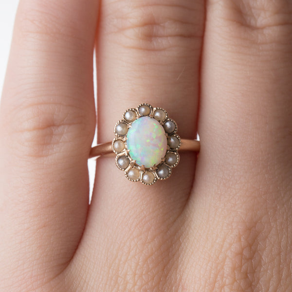 Whimsical Opal and Seed Pearl Ring | Sunnyside from Trumpet & Horn