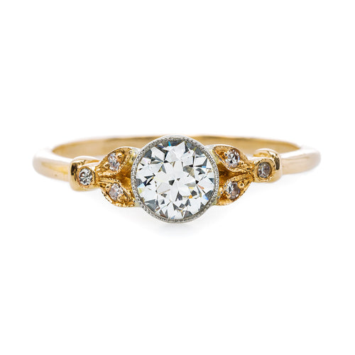 Delicate Bezel Set Diamond Engagement Ring | Swan Lane from Trumpet & Horn