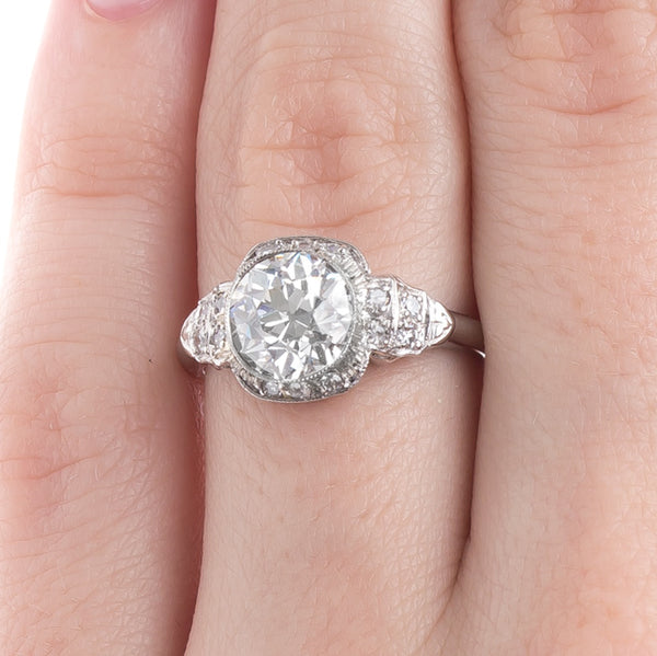 Glittering Bezel Set Art Deco Engagement Ring | Swanwick from Trumpet & Horn