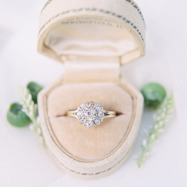 Antique Cluster Ring with Coveted English Hallmarks | Photo by Sweetlife Photography