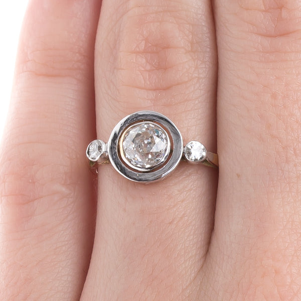 Art Nouveau Diamond Engagement Ring | Tahquitz Canyon from Trumpet & Horn