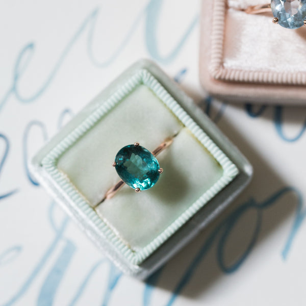 From Necklace to Solitaire Ring | Brisbane Green Tourmaline from Trumpet & Horn