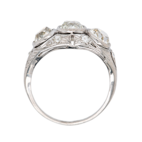 Stunning Antique 3-Stone Diamond Engagement Ring | Terryland at Trumpet & Horn