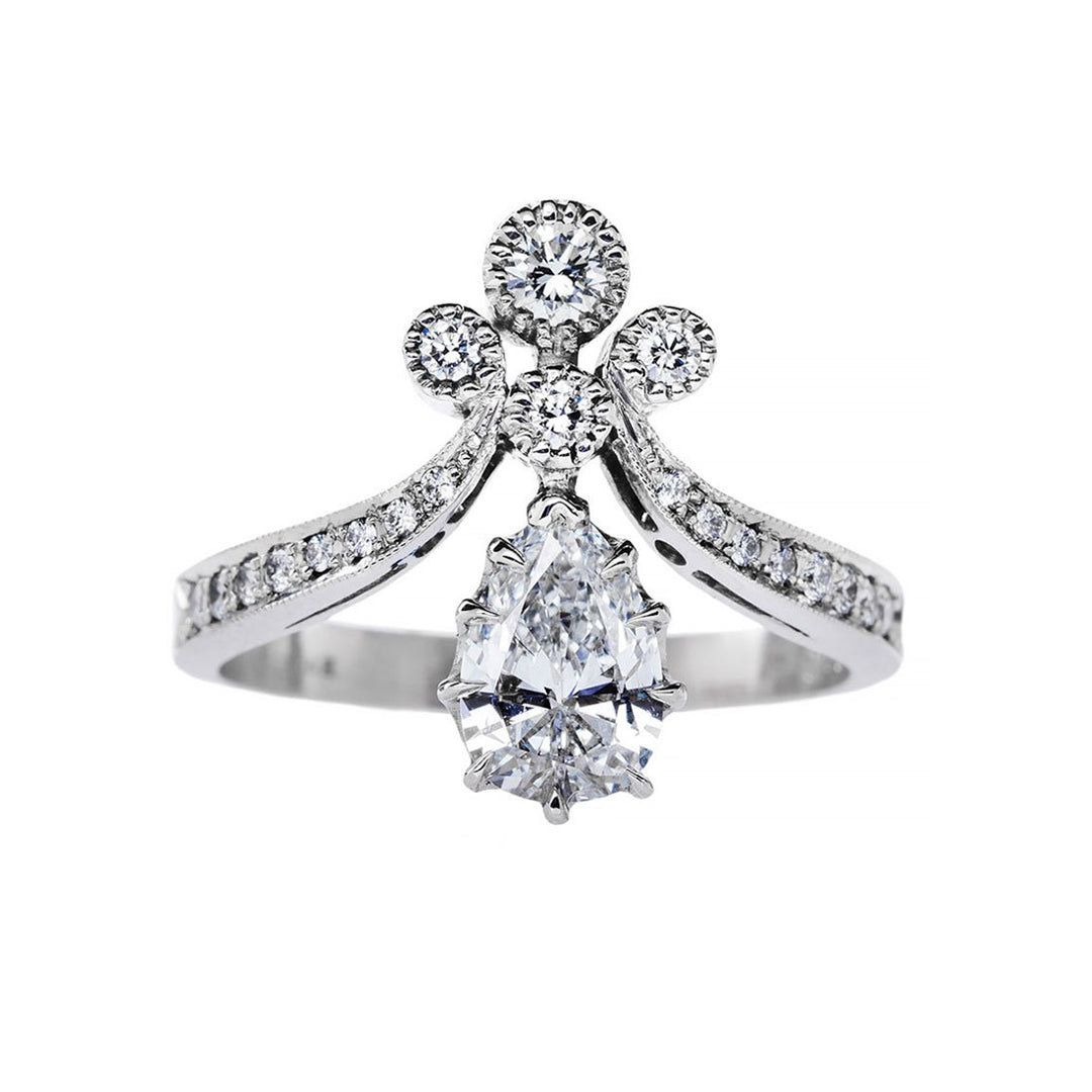 engagement howard diamond with diamonds carats center gold in of white s ring tiara rings products