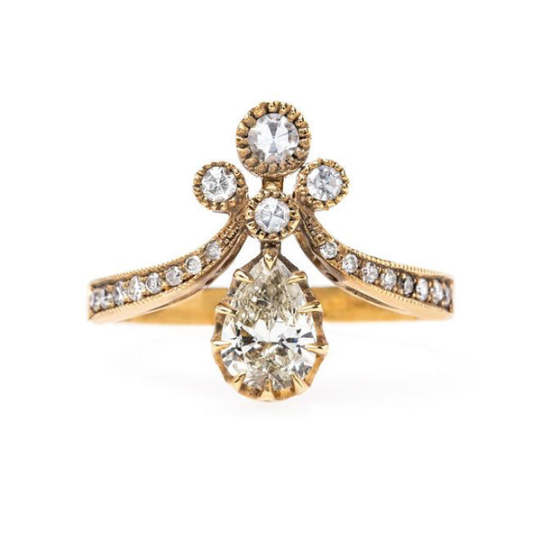 Victorian Vintage Inspired Engagement Ring | Vintage Engagement Ring