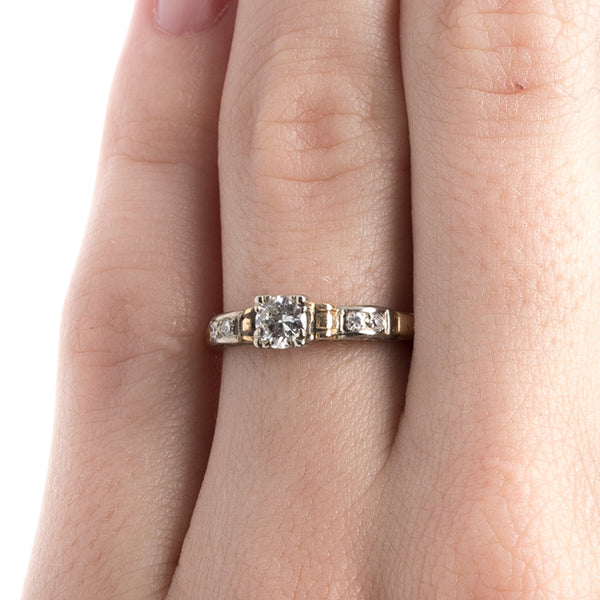 Timeless Mixed Metal Retro Diamond Engagement Ring | Tremont from Trumpet & Horn