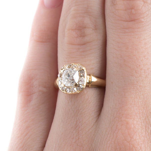 Antique Victorian Halo Engagement Ring | Tribeca from Trumpet & Horn