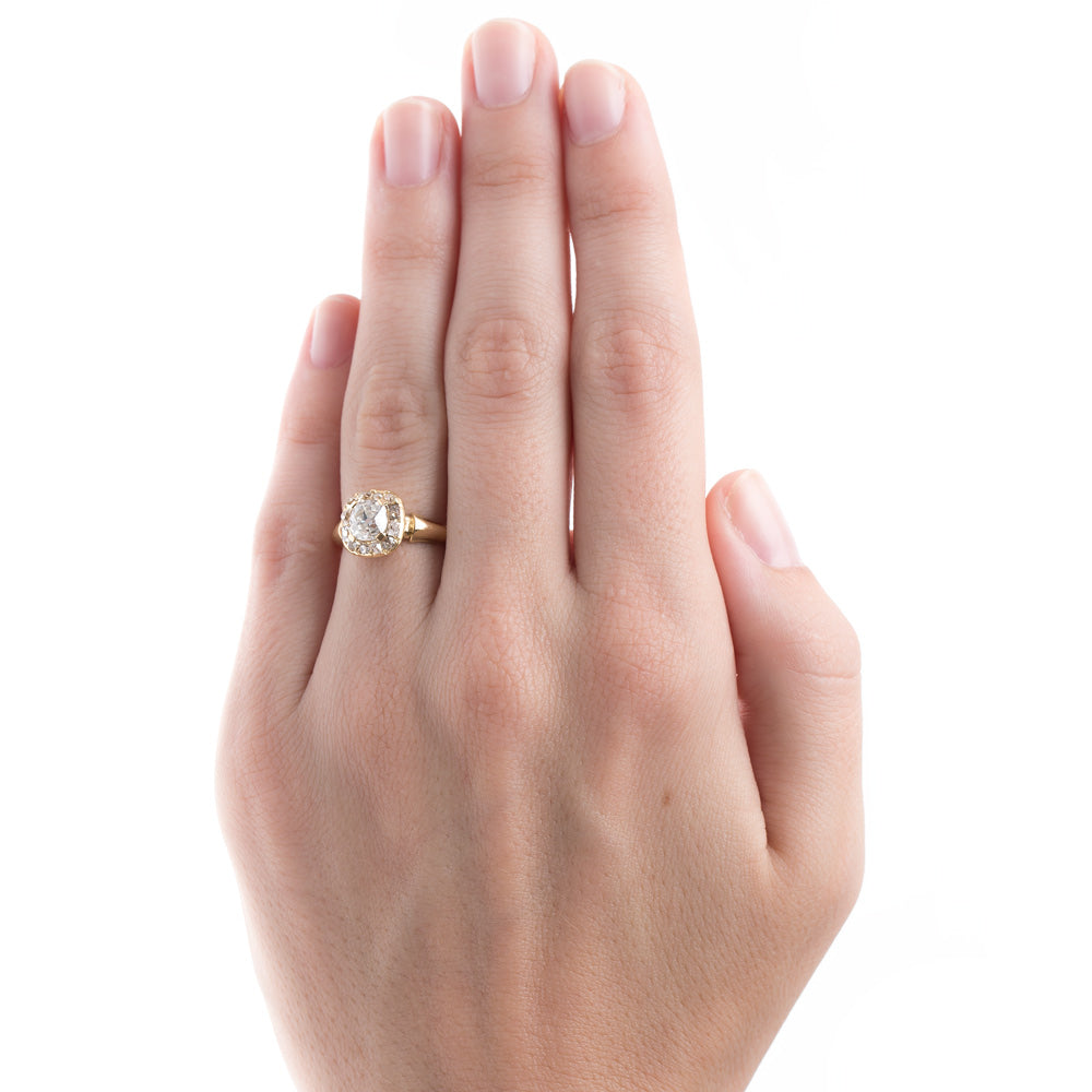 Antique Victorian Halo Engagement Ring | Tribeca – Trumpet & Horn