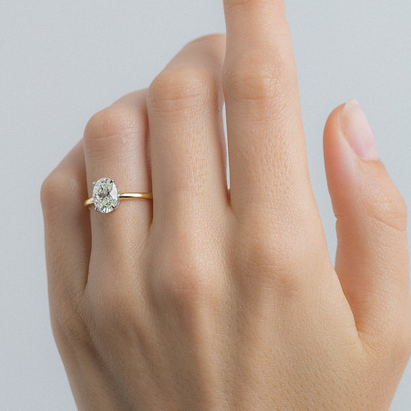 Timeless Oval Cut Minimalist Solitaire Engagement Ring | Tulum from Trumpet & Horn