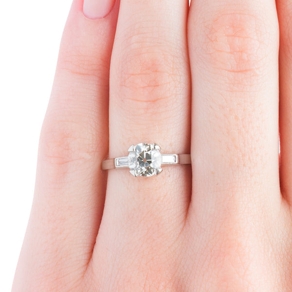 Vintage Inspired Solitaire Three Stone Engagement Ring | Union Point from Trumpet & Horn