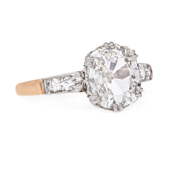 Beautifully Handcrafted Engagement Ring with Cushion Cut Diamond | Union Square from Trumpet & Horn