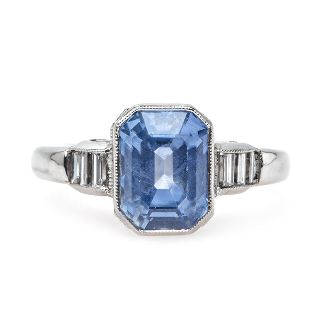 Unheated Cornflower Blue Natural Sapphire Engagement Ring | Malibu from Trumpet & Horn
