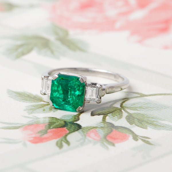 Bold Modern Era Emerald Ring | Ventana from Trumpet & Horn