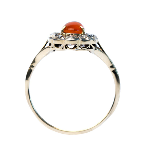 Verbena vintage fire opal and diamond ring from Trumpet & Horn