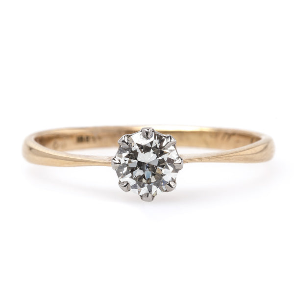 Petite Victorian Era Solitaire Engagement Ring with Old European Cut Diamond | Hope from Trumpet & Horn