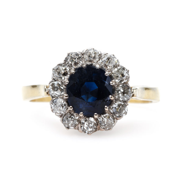 Impressive Victorian Era Unheated Sapphire Engagement Ring | Lone Hill from Trumpet & Horn