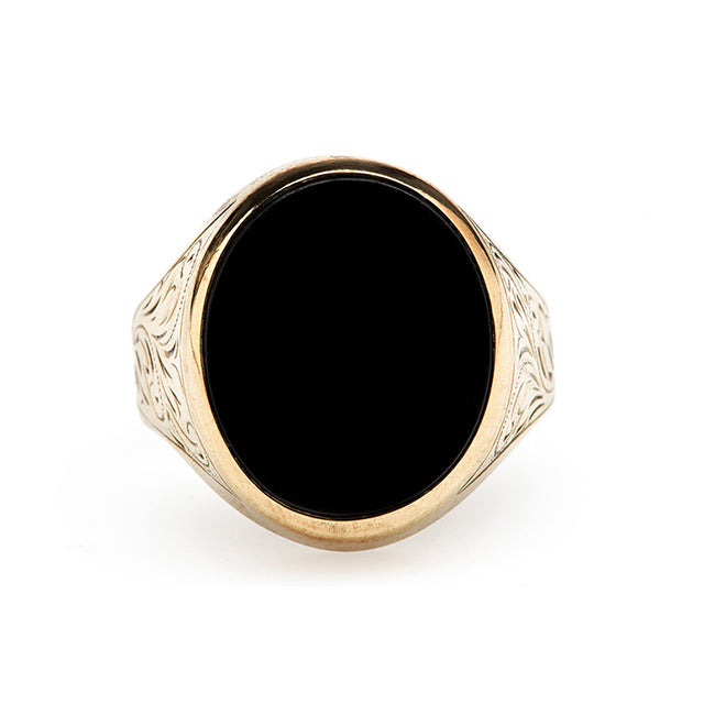 Antique Black Onyx Ring