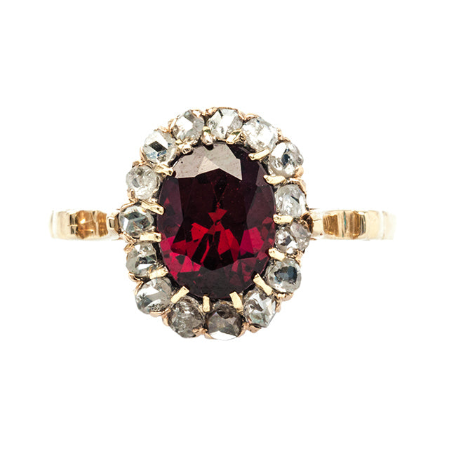 Elk Ridge antique Victorian garnet and diamond ring from Trumpet & Horn