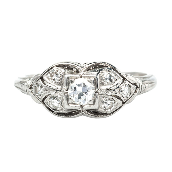 Abbeville vintage Art Deco engagement ring from Trumpet & Horn