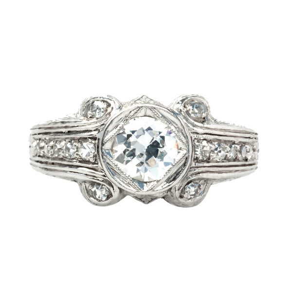 Delano vintage Art Deco diamond ring from Trumpet & Horn
