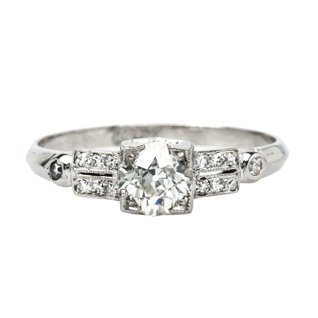 Tinley Park vintage Art Deco diamond engagement ring from Trumpet & Horn