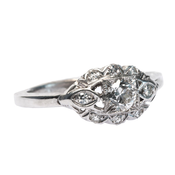 Grace Bay vintage Art Deco engagement ring from Trumpet & Horn
